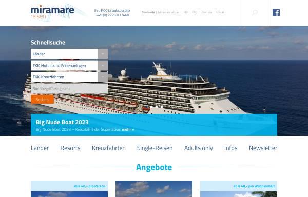 Vorschau von www.fkk-urlaub.de, Miramare Reisen