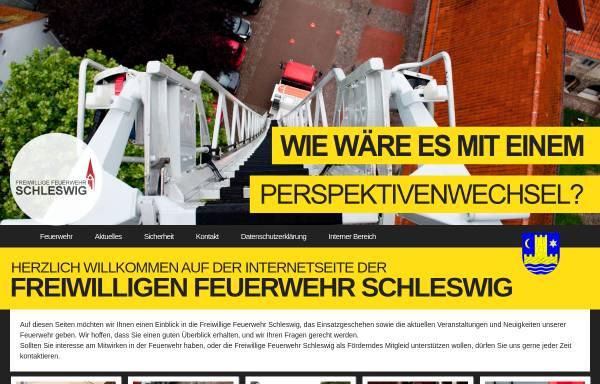 Vorschau von www.feuerwehr-schleswig.de, Freiwillige Feuerwehr Schleswig