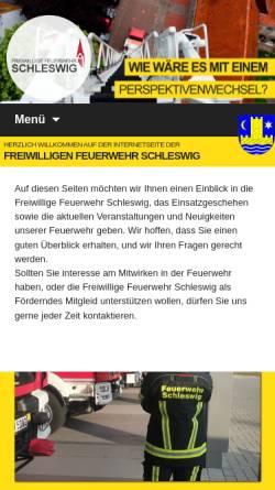 Vorschau der mobilen Webseite www.feuerwehr-schleswig.de, Freiwillige Feuerwehr Schleswig