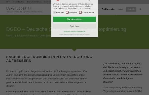 Vorschau von www.dgeo.de, Deutsche Gesellschaft für Entgeltoptimierung (DGEO)
