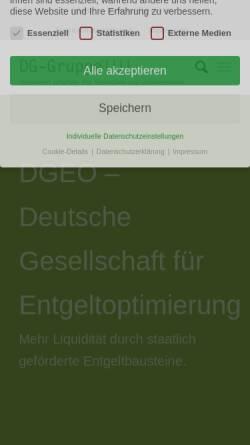 Vorschau der mobilen Webseite www.dgeo.de, Deutsche Gesellschaft für Entgeltoptimierung (DGEO)