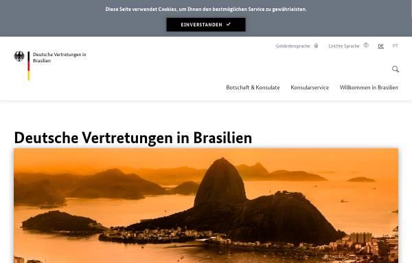 Vorschau von brasil.diplo.de, Deutschland in Brasilien