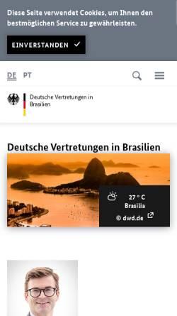 Vorschau der mobilen Webseite brasil.diplo.de, Deutschland in Brasilien