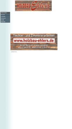 Vorschau der mobilen Webseite www.holzbau-ehlers.de, Holzbau Ehlers