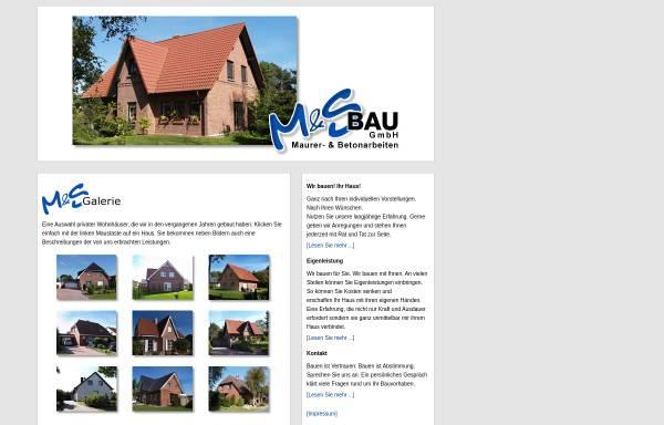 Vorschau von www.ms-bau-lunestedt.de, M & S Bau GmbH Lunestedt