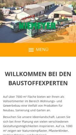 Vorschau der mobilen Webseite www.niemeyer-baustoffe.de, Niemeyer Baustoffe