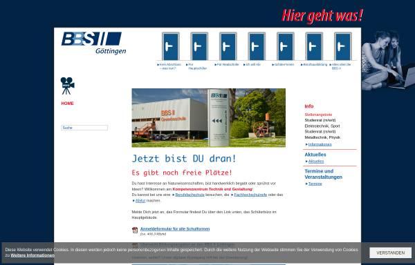 Vorschau von www.bbs2goe.de, BBS II Göttingen