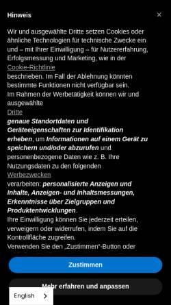 Vorschau der mobilen Webseite www.ameria.de, Ameria GmbH