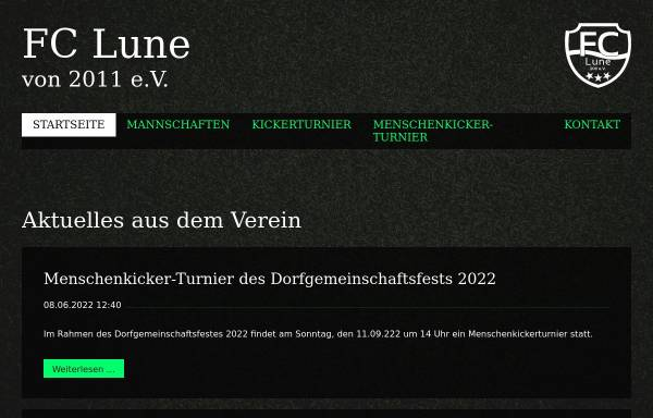 Vorschau von fclune.de, FC Lune 2011 e.V. [Lunestedt]