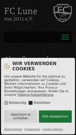 Vorschau der mobilen Webseite fclune.de, FC Lune 2011 e.V. [Lunestedt]