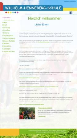 Vorschau der mobilen Webseite www.whs-goettingen.de, Wilhelm-Henneberg-Schule