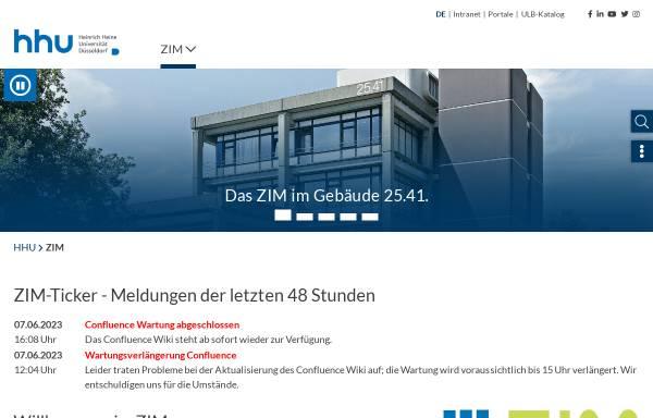 Vorschau von www.zim.hhu.de, Zentrum für Informations- und Medientechnologie (ZIM)