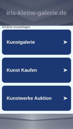 Vorschau der mobilen Webseite www.iris-kleine-galerie.de, Rickart, Iris