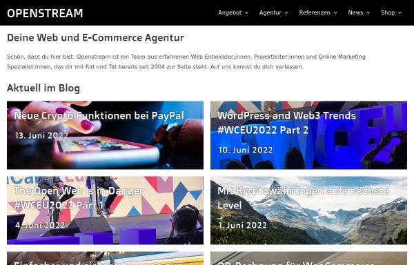 Vorschau von www.openstream.ch, Openstream Internet Solutions