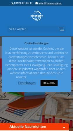 Vorschau der mobilen Webseite roconnect.eu, RoConnect