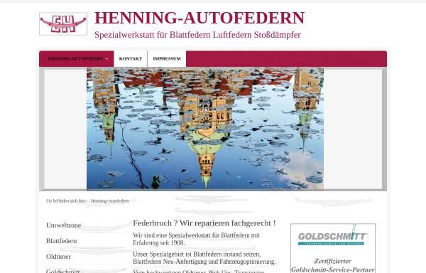 Vorschau von www.henning-autofedern.de, Henning-Autofedern