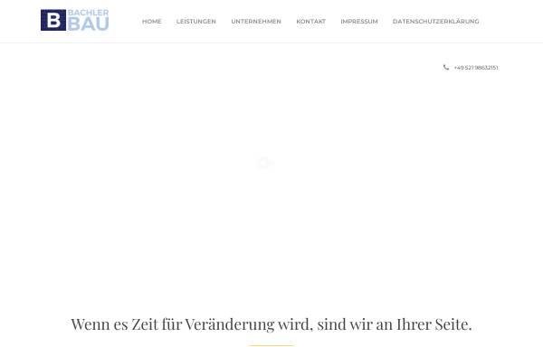 Vorschau von www.bachler-bau.de, A. Bachler Bau-GmbH
