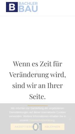 Vorschau der mobilen Webseite www.bachler-bau.de, A. Bachler Bau-GmbH