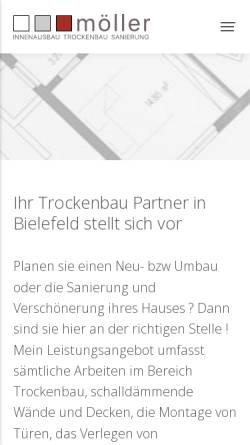 Vorschau der mobilen Webseite www.moeller-innenausbau.de, Möller Innenausbau