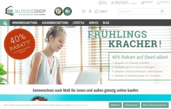 Vorschau von www.jalousieshop.net, Sonnenschutz-Direkt Inh. Dietmar Göbert