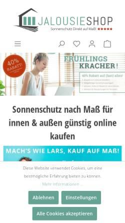 Vorschau der mobilen Webseite www.jalousieshop.net, Sonnenschutz-Direkt Inh. Dietmar Göbert