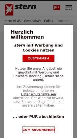 Vorschau der mobilen Webseite www.stern.de, Stern.de: Amoklauf von Emsdetten - Das Tagebuch von Sebastian B.