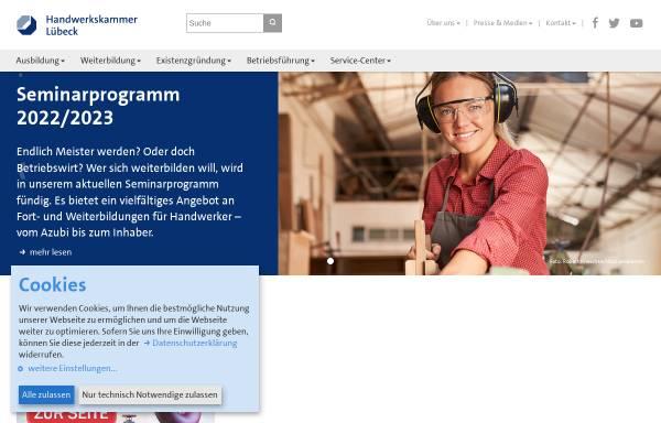 Vorschau von www.hwk-luebeck.de, Handwerkskammer Lübeck