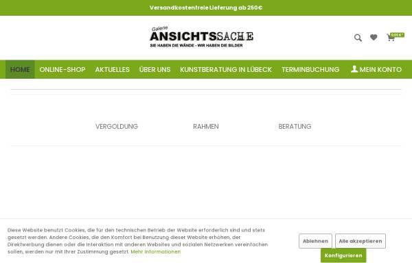 Vorschau von www.galerie-ansichtssache.de, Galerie Ansichtssache, Thomas Jespersen