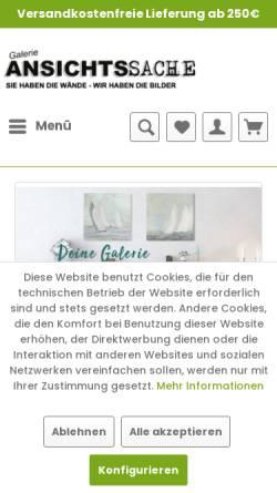 Vorschau der mobilen Webseite www.galerie-ansichtssache.de, Galerie Ansichtssache, Thomas Jespersen