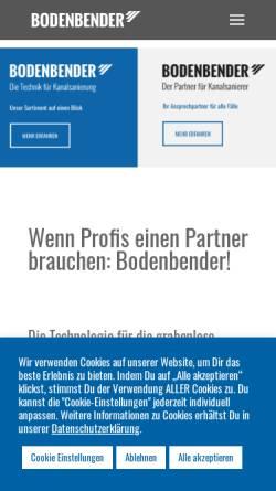 Vorschau der mobilen Webseite www.bodenbender.com, Bodenbender GmbH