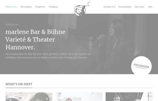 Vorschau von www.marlene-hannover.de, Marlene Bar & Bühne - Ganea UG & Co. KG