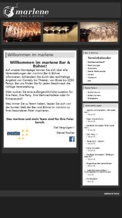 Vorschau der mobilen Webseite www.marlene-hannover.de, Marlene Bar & Bühne - Ganea UG & Co. KG