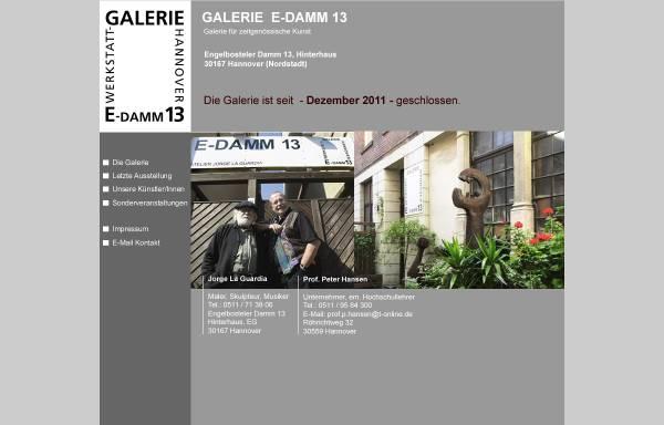 Vorschau von www.galerie-e-damm13.de, Galerie E-Damm13 - Prof. Dr. Peter Hansen