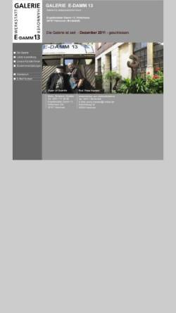 Vorschau der mobilen Webseite www.galerie-e-damm13.de, Galerie E-Damm13 - Prof. Dr. Peter Hansen