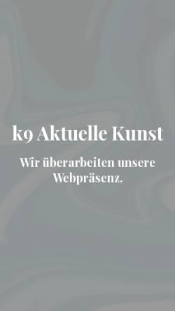 Vorschau der mobilen Webseite www.k9aktuellekunst.de, Galerie k9 - Inh. Sonja Bieker