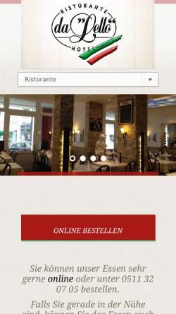 Vorschau der mobilen Webseite www.dalello.de, Da Lello - Inh. Salvatore Corallo