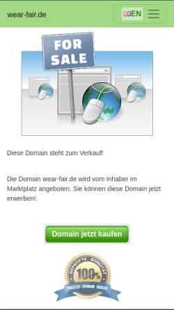 Vorschau der mobilen Webseite www.wear-fair.de, ConSequenzen wear fair, Angelika Kung