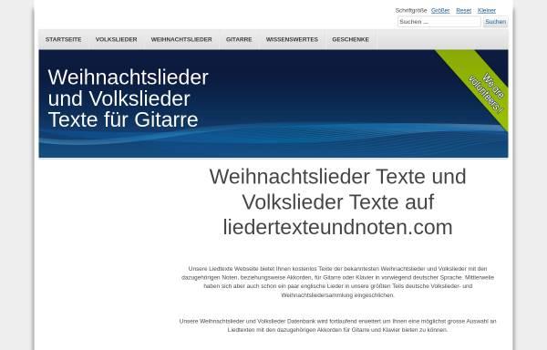 Vorschau von www.liedertexteundnoten.com, Weihnachtslieder Texte und Noten - Matthias Waltner und Florian Kinslechner