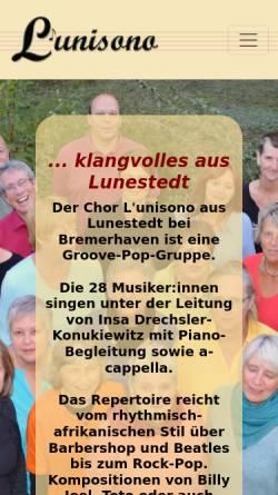 Vorschau der mobilen Webseite www.lunisono.de, L'unisono [Lunestedt]