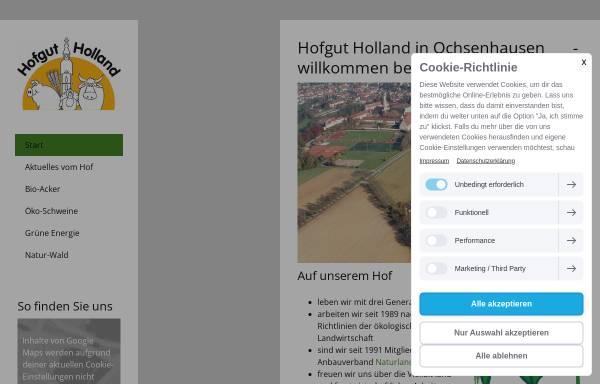 Vorschau von hofgut-holland.de, Hofgut Holland