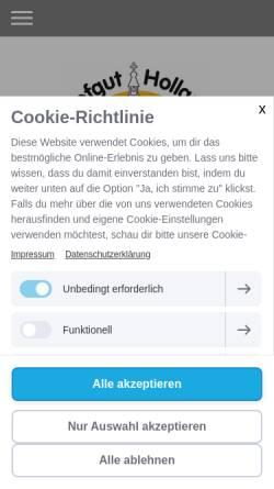 Vorschau der mobilen Webseite hofgut-holland.de, Hofgut Holland
