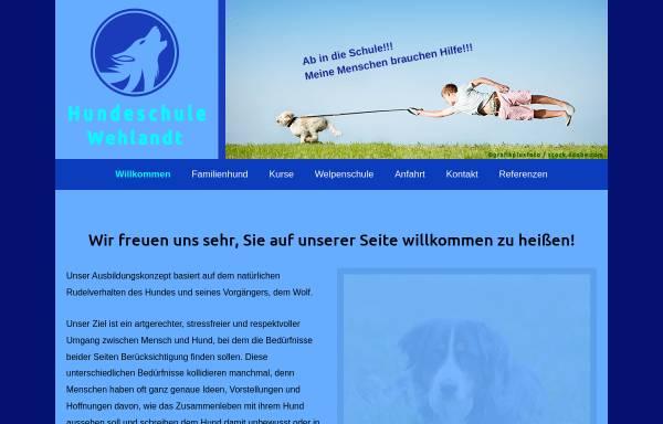 Vorschau von www.hundeschule-wehlandt.de, Hundeschule Wehlandt