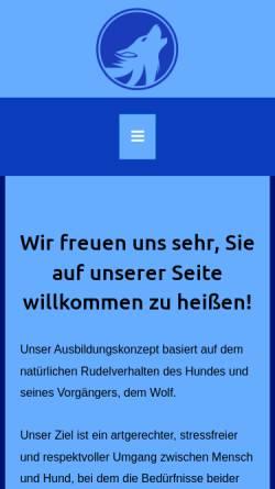 Vorschau der mobilen Webseite www.hundeschule-wehlandt.de, Hundeschule Wehlandt