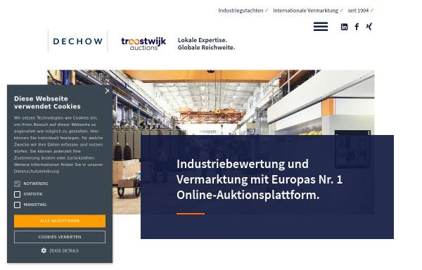 Vorschau von www.dechow.de, Auktionshaus Wilhelm Dechow GmbH