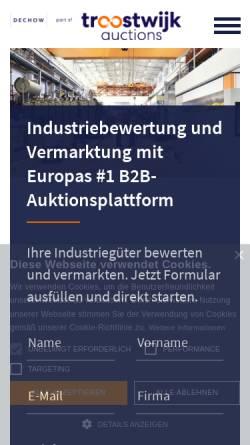 Vorschau der mobilen Webseite www.dechow.de, Auktionshaus Wilhelm Dechow GmbH