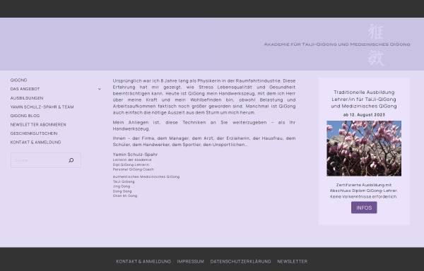 Vorschau von www.qigong-yamin.com, Akademie für TaiJi-QiGong und Medizinisches QiGong