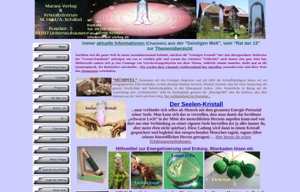 Vorschau von www.marani-verlag.de, Marani-Verlag / Zentrum der Erkenntnis