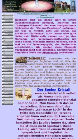 Vorschau der mobilen Webseite www.marani-verlag.de, Marani-Verlag / Zentrum der Erkenntnis