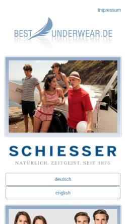 Vorschau der mobilen Webseite www.best-underwear.de, Möller Textilien, Marianne Möller