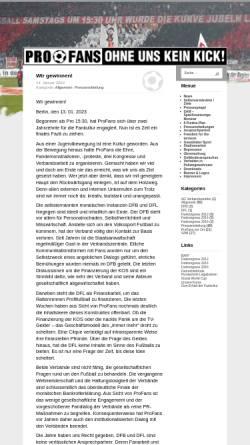 Vorschau der mobilen Webseite www.profans.de, Pro Fans